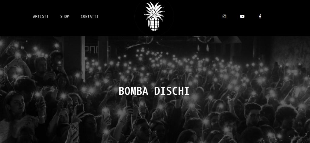 Sito web Bomba Dischi